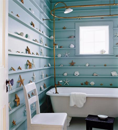 decoração de Verão para a casa de banho